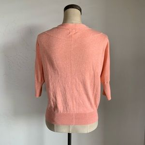 Mossimo Supply Co. Sweaters - Mossimo coral button up short sleeve cardigan